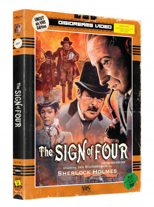 Das Zeichen der Vier - Limited Mediabook VHS Edition [Blu-ray+DVD]