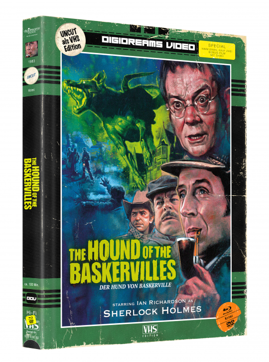 Der Hund von Baskerville - Limited Mediabook VHS Edition [Blu-ray+DVD]