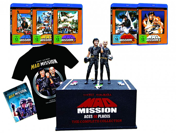 Mad Mission - The Complete Collection (Mad Mission 1 - 5 , Figur mit Sockel) [Blu-ray]