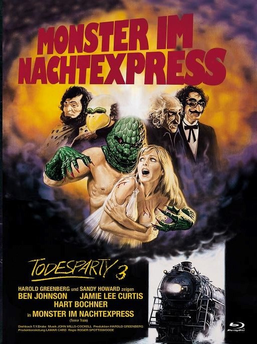 Todesparty 3 - Monster im Nachtexpress - International Cult Collection #5 - Mediabook - Cover A [Blu-ray+DVD]