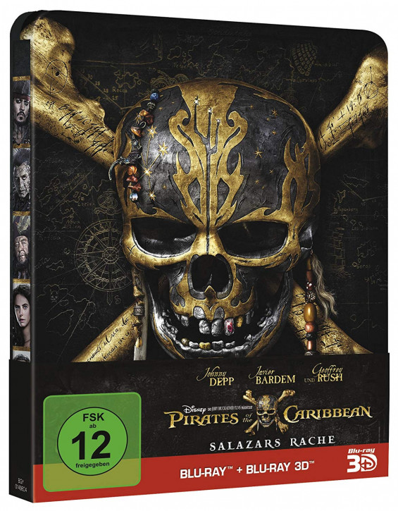 Pirates of the Caribbean: Salazars Rache - Steelbook Edition [Blu-ray 3D+Blu-ray]