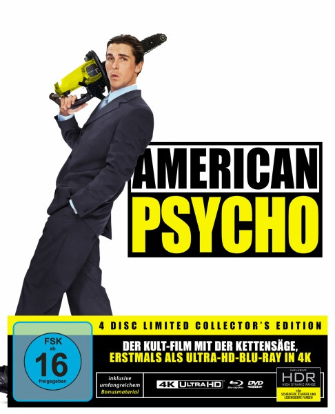 American Psycho - Special Edition [4K UHD+Blu-ray+DVD+CD]