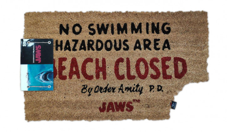 Der weiße Hai - Fußmatte - Beach Closed