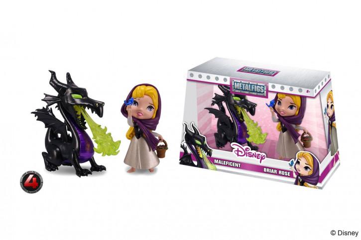 Disney - Metalfigs Diecast Minifiguren Doppelpack - Maleficent & Briar Rose