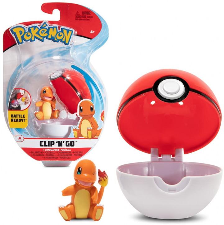 Pokemon Clip`N` Go - Glumanda + Pokeball