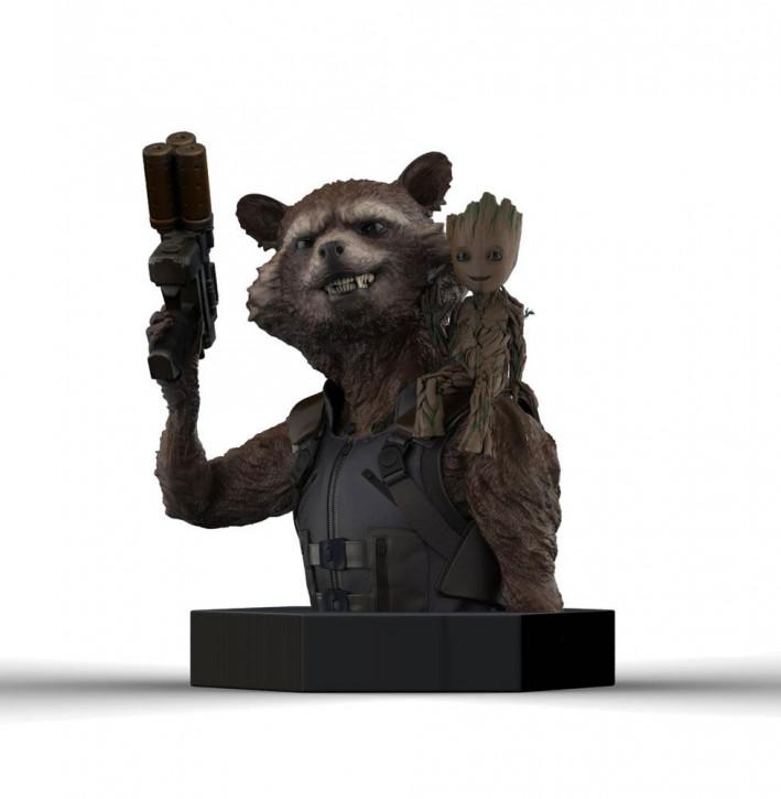 Guardians of the Galaxy Vol. 2 - Büste 1/6 - Rocket Raccoon & Groot