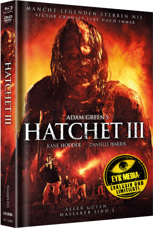 Hatchet 3 - Limited Mediabook - Cover A [Blu-ray+DVD]
