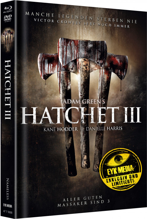 Hatchet 3 - Limited Mediabook - Cover B [Blu-ray+DVD]