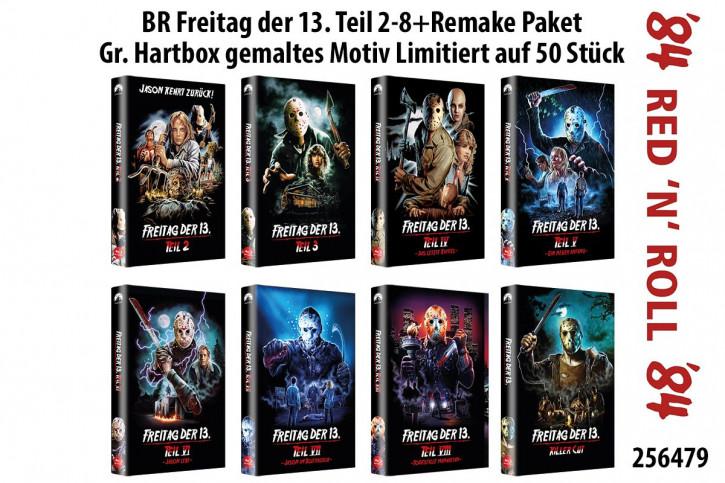 Freitag der 13. Teil 2-8+Remake Paket - große Hartbox - Cover B [Blu-ray]