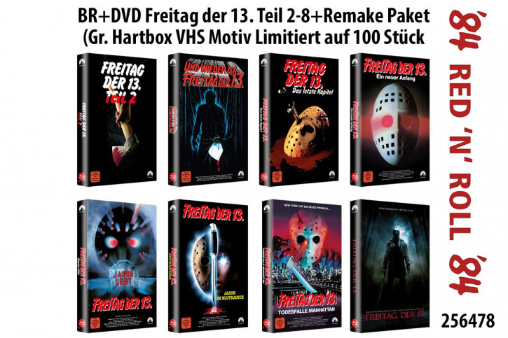 Freitag der 13. Teil 2-8+Remake Paket - große Hartbox - Cover A [Blu-ray]