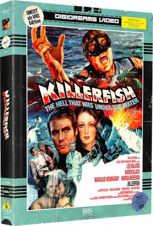 Killerfish - Limited Mediabook VHS Edition [Blu-ray+DVD]
