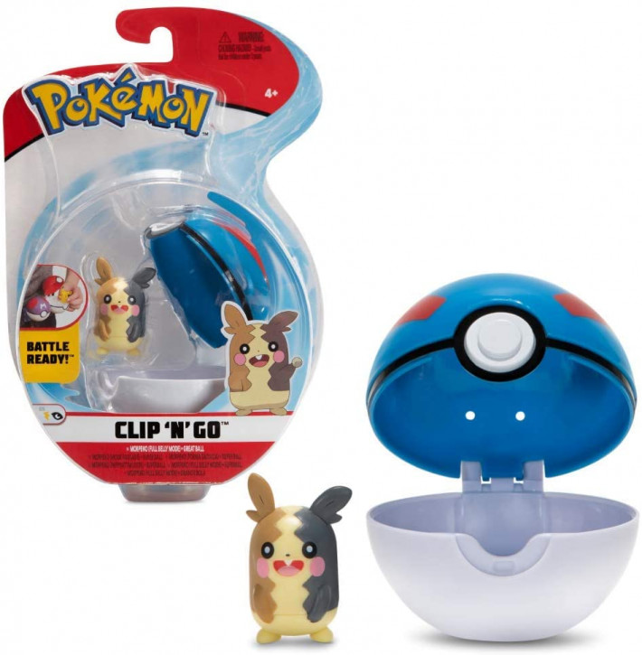 Pokemon Clip`N` Go - Morpeko + Superball