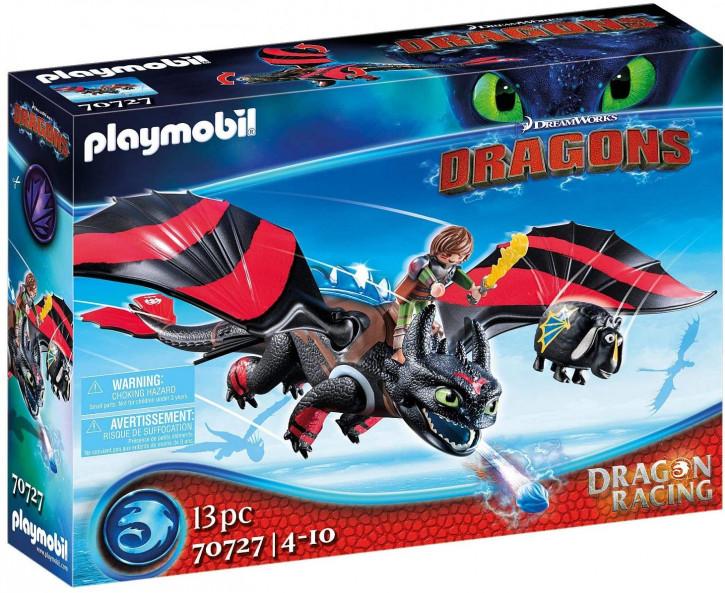 Playmobil - DreamWorks Dragons 70727 - Dragon Racing: Hicks und Ohnezahn