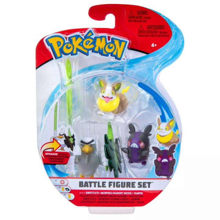 Pokemon Battle Figure Set - Lauchzelot, Morpeko und Voldi