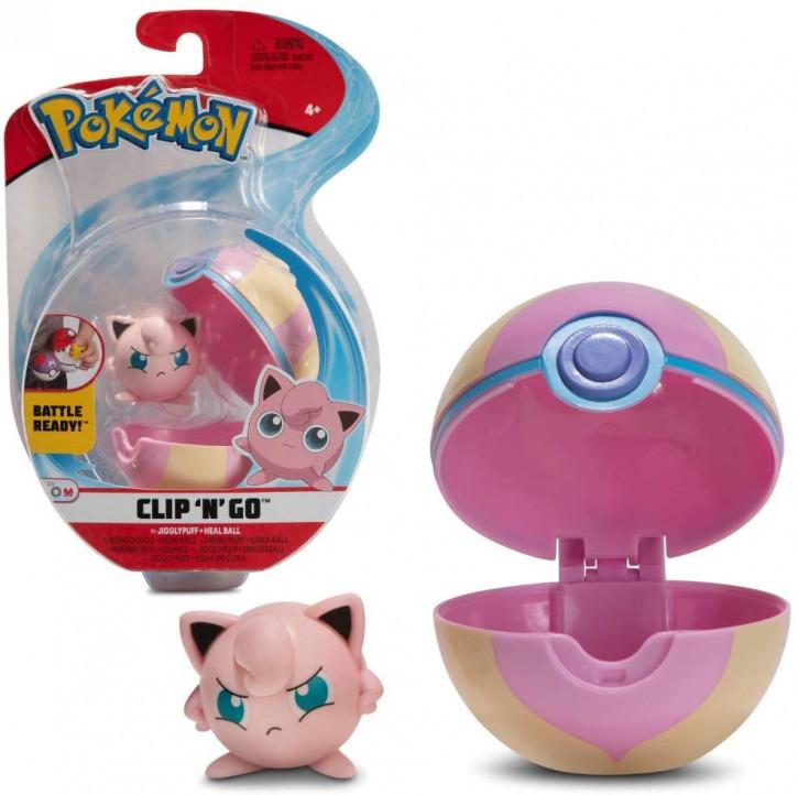 Pokemon Clip`N` Go - Pummeluff + Heilball