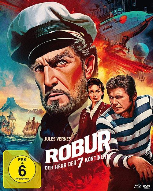 Robur - Der Herr der sieben Kontinente - Mediabook - Cover A [Blu-ray+DVD]