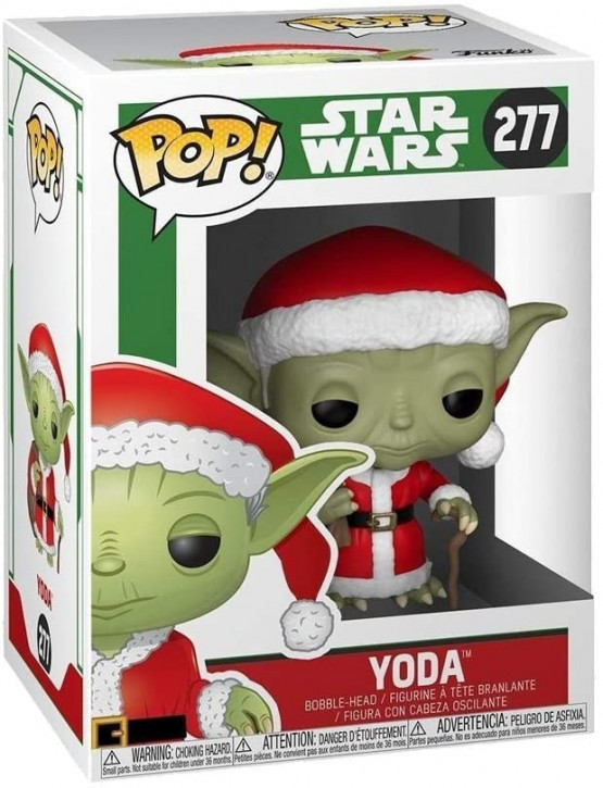 FunKo Movie: Star Wars - Holiday Santa Yoda - Pop Vinyl Figure 277