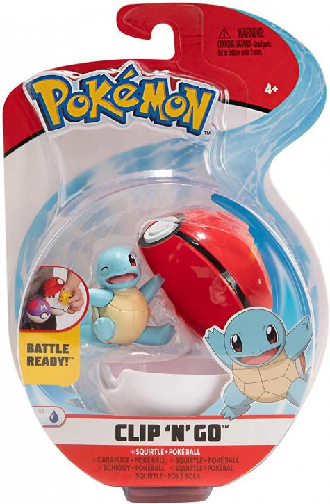 Pokemon Clip`N` Go - Schiggy + Pokeball