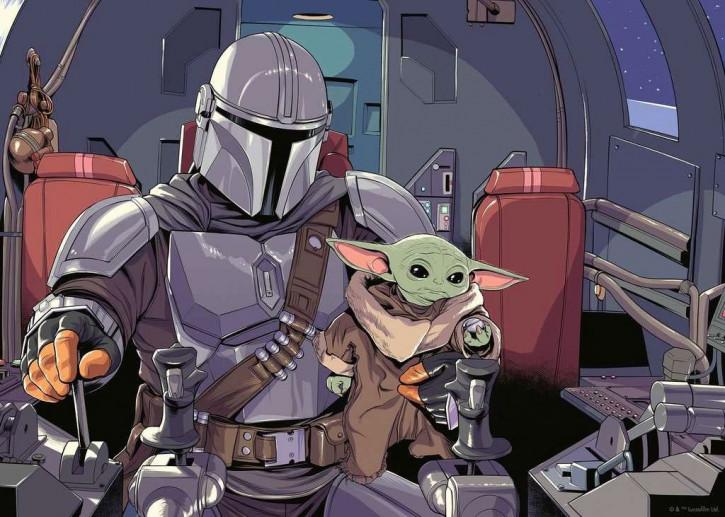 Star Wars The Mandalorian - Puzzle - Cartoon