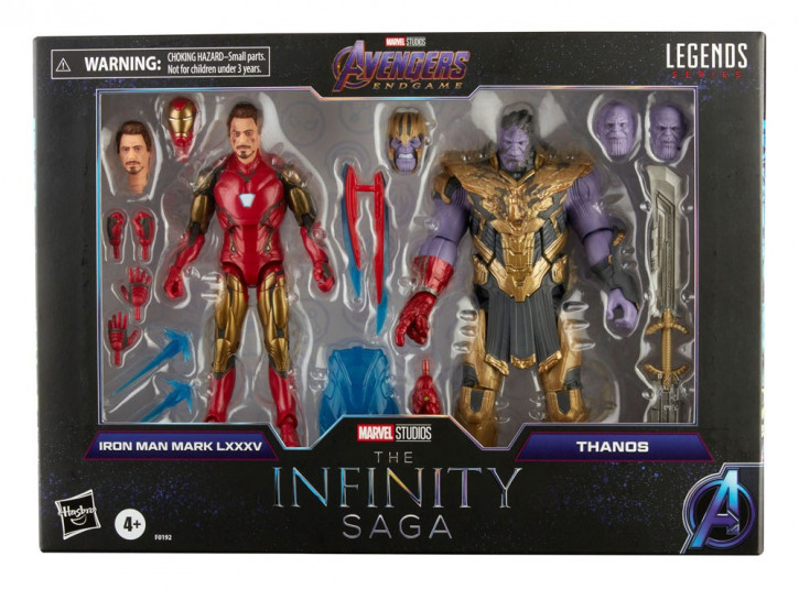 The Infinity Saga Marvel Legends Series Actionfiguren 2-Pack 2021 - Iron Man & Thanos (Endgame)