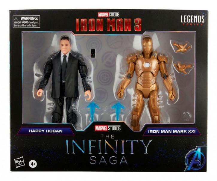 The Infinity Saga Marvel Legends Actionfiguren 2-Pack 2021 - Happy Hogan & Iron Man (Iron Man 3)