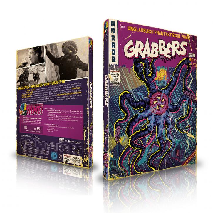 Grabbers - Limited Mediabook Edition (Unglaublich Phantastische Filme-Collection #7) [Blu-ray+DVD]