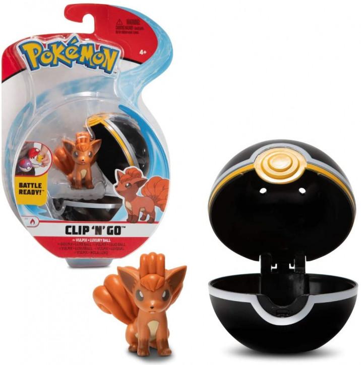 Pokemon Clip`N` Go - Vulpix + Luxusball