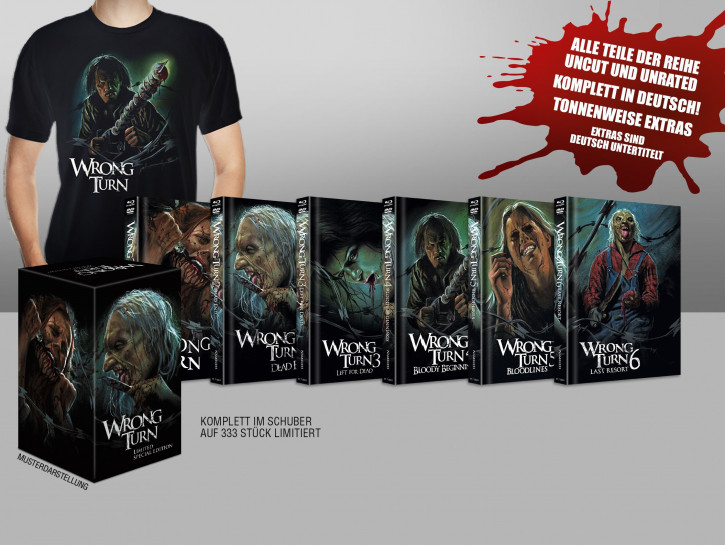 Wrong Turn 1 - 6 - Artwork Box [Blu-ray+DVD]