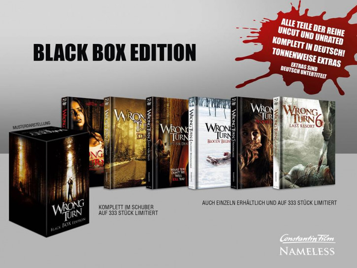 Wrong Turn 1-6 - Limited Mediabook Edition - Black Box Edition [Blu-ray+DVD]
