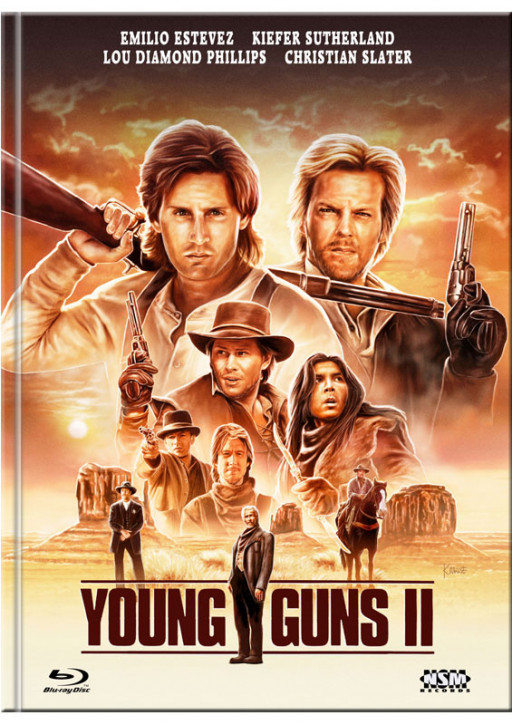 Young Guns 2 - Blaze of Glory - Mediabook - Cover D [Blu-ray+DVD]