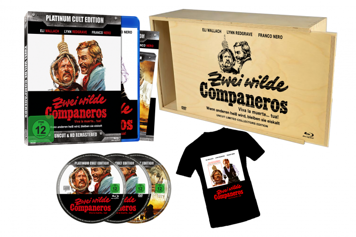 Zwei wilde Companeros (Platinum-Cult-Edition) + T-Shirt & Holzbox [Blu-ray+DVD]
