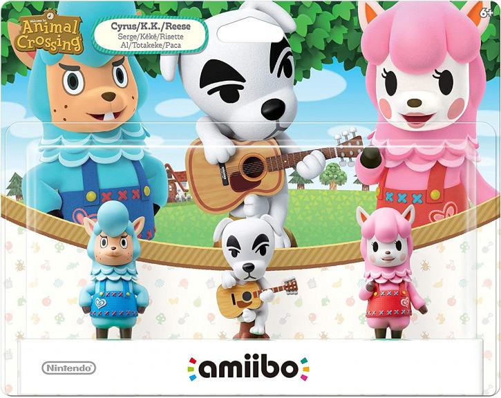amiibo - Animal Crossing 3er Figuren-Set (K.K., Rosina, Björn)