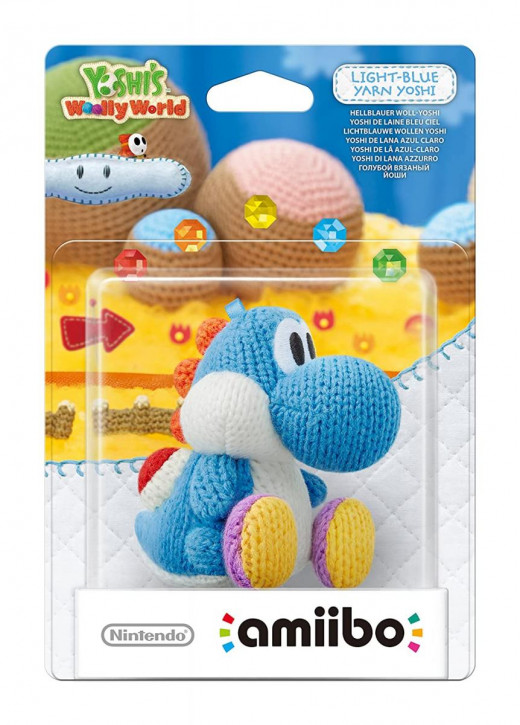 amiibo - Yoshi's Wooly World - Woll-Yoshi Hellblau