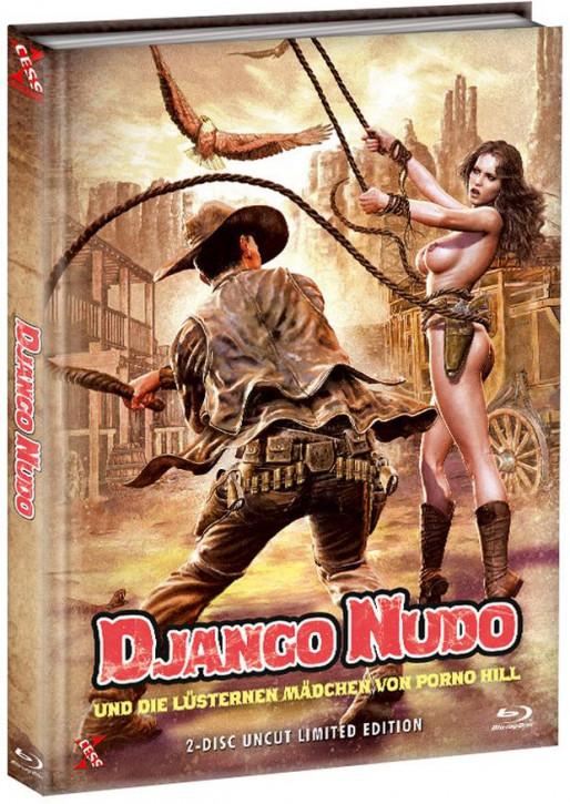 Django Nudo und die lüsternen ... - Mediabook - Cover B [Bluray+DVD]