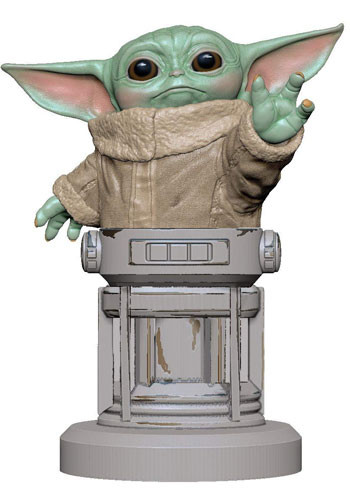 Cable Guy: Yoda baby (Mandalorian) incl 2m Ladekabel