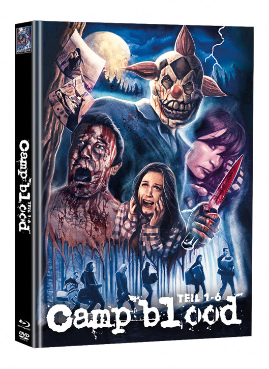 Camp Blood 1-6 - Limited Mediabook Edition - Cover B (Super Spooky Stories #161) [Blu-ray+DVD]
