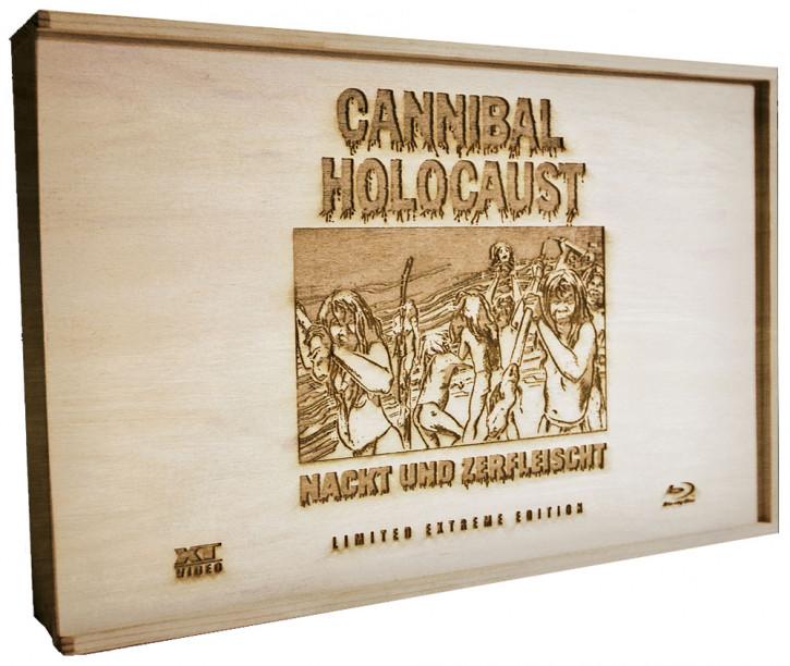 Cannibal Holocaust - Nackt und Zerfleischt- Limited Extreme Edition (Filmdose & Holzbox) [Blu-ray+DVD]