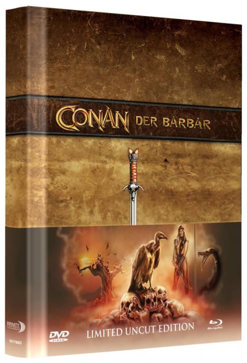 Conan - Der Barbar - Limited Mediabook Edition - Cover Wattiert [Blu-ray+DVD]