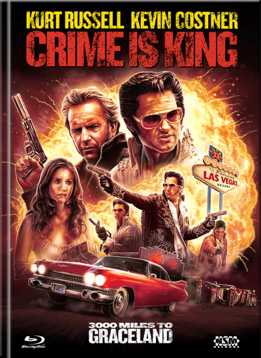 Crime is king - 3000 Miles to Graceland - Limited Mediabook Edition - Cover D [Blu-ray+DVD]