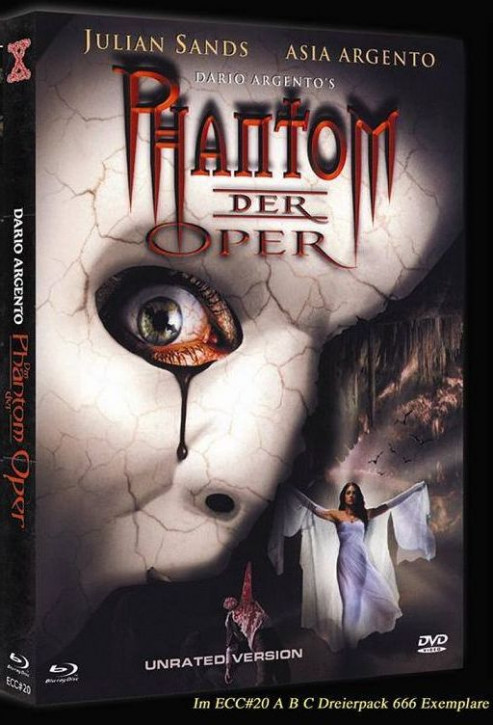 Phantom der Oper - Eurocult Collection #020 - Cover A (inkl. Trauma - Mediabook + Sleepless - Mediabook) [Blu-ray+DVD]