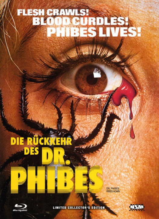 Die Rückkehr des Dr. Phibes - Limited Collector's Edition - Cover B [Bluray+DVD]