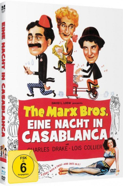 The Marx Bros. - Eine Nacht in Casablanca - Limited Mediabook Edition - [Blu-ray+DVD]