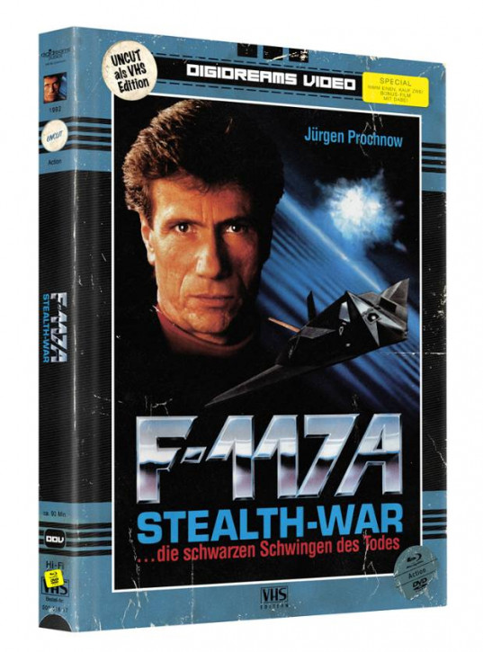 F-117 A - Stealth-War - Limited Mediabook VHS Edition [Blu-ray+DVD]