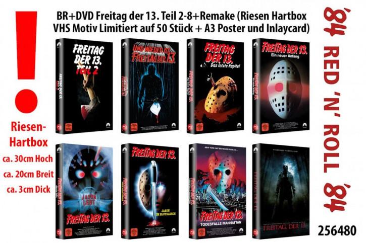 Freitag der 13. Teil 2-8+Remake Paket - Riesen Hartbox - VHS Motiv [Blu-ray]