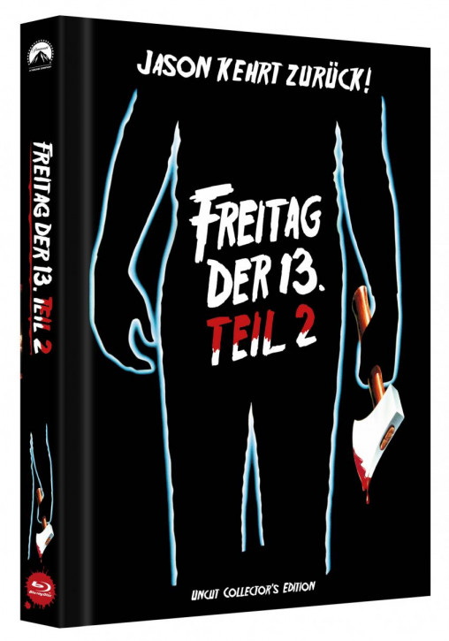 Freitag der 13. - Teil 2 - Limited Collectors Edition Mediabook - Cover C [Blu-ray]