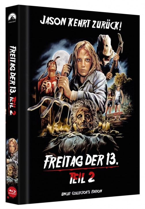 Freitag der 13. - Teil 2 - Limited Collectors Edition Mediabook - Cover D [Blu-ray]