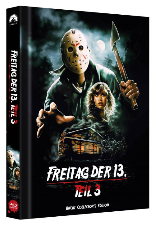 Freitag der 13. - Teil 3 - Limited Collectors Edition Mediabook - Cover D [Blu-ray]