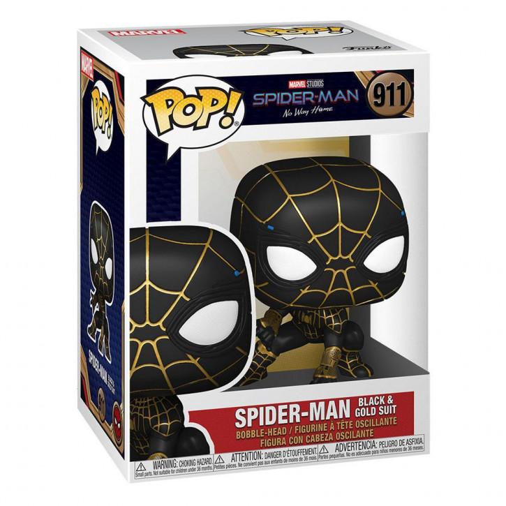 Spider-Man: No Way Home POP! - Vinyl Figur 911 - Spider-Man (Black & Gold Suit)