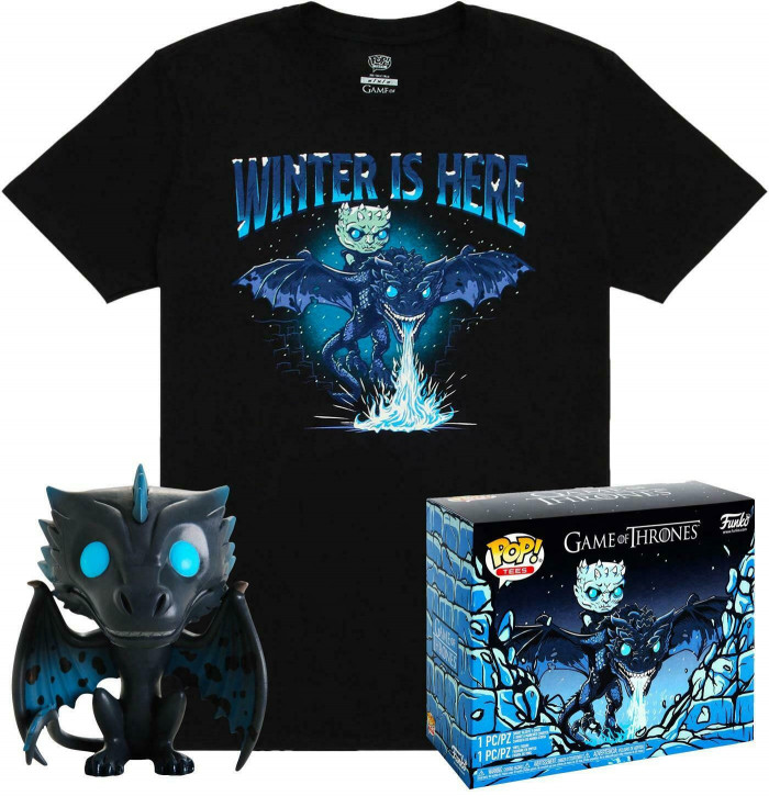 Game of Thrones POP! - Tee Vinyl Figur T-Shirt Set - Icy Viserion