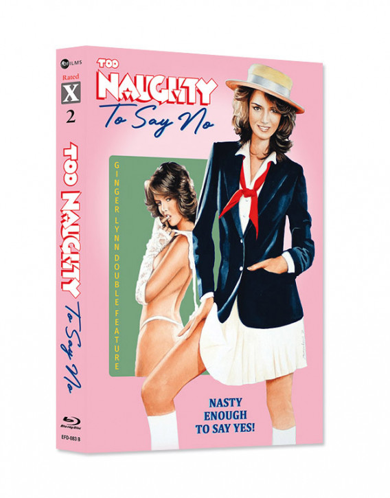 Ginger Lynn Double Feature - Too Naughty To Say No & Trashy Lady - Limited Mediabook Edition - Rated X Nr.02  - Cover B [Blu-ray+CD]